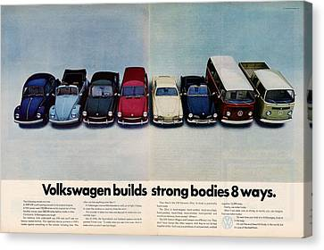 Volkswagen Builds Strong Bodies Eight Ways Canvas Print by Georgia Fowler