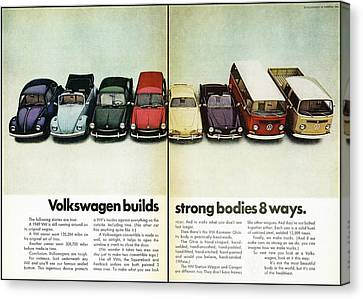 Volkswagen Builds Strong Bodies In 8 Ways Canvas Print by Georgia Fowler