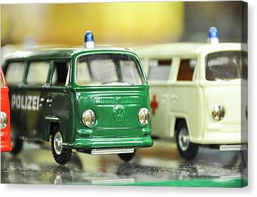 Volkswagen Miniature Cars Canvas Print by Photostock-israel