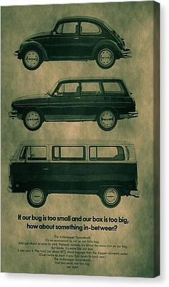 Volkswagen Poster Canvas Print by Dan Sproul