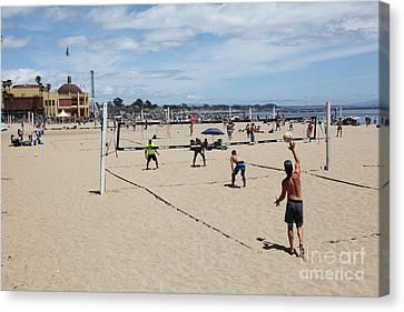 Volleyball At The Santa Cruz Beach Boardwalk California 5d23837 Canvas Print by Wingsdomain Art and Photography