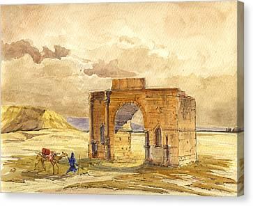 Volubilis Mecknes Ruins Canvas Print by Juan  Bosco