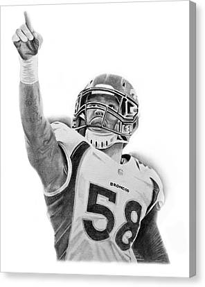 Von Miller Canvas Print by Don Medina
