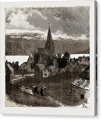 Vossevangen, Norway Canvas Print by Litz Collection