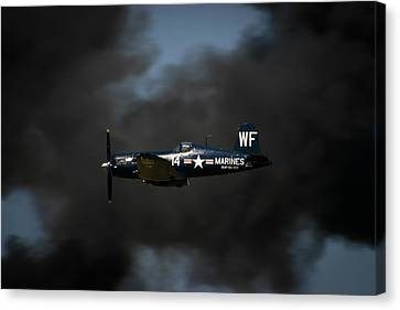 Vought F4u Corsair Canvas Print by Adam Romanowicz