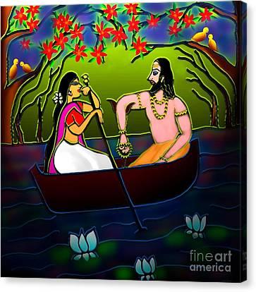 Voyage Canvas Print by Latha Gokuldas Panicker