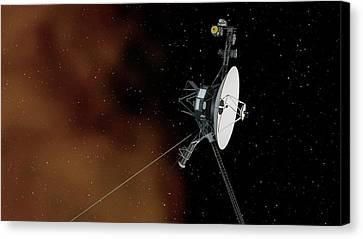 Voyager 1 Canvas Print by Nasa/jpl-caltech