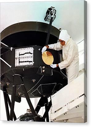 Voyager Disc Installation Canvas Print by Nasa/internegative