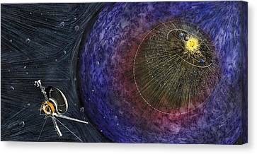 Voyager Leaving The Solar System Canvas Print by Nicolle R. Fuller