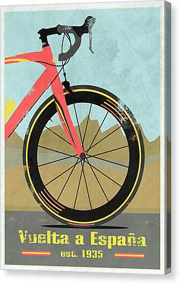 Vuelta A Espana Bike Canvas Print by Andy Scullion