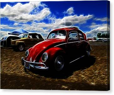 Vw Bug And Vw Thing Canvas Print by Steve McKinzie