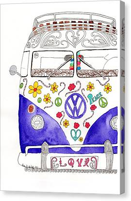 Vw Love Canvas Print by Paula Dickerhoff