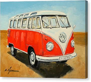 Vw Transporter T1 Canvas Print by Luke Karcz