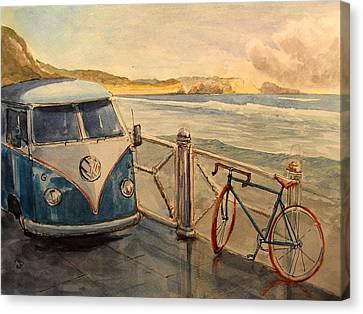 Vw Westfalia Surfer Canvas Print by Juan  Bosco