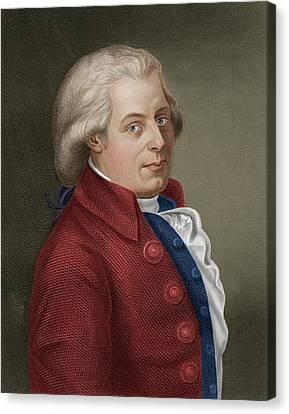 W A Mozart Canvas Print by Maria Platt-evans