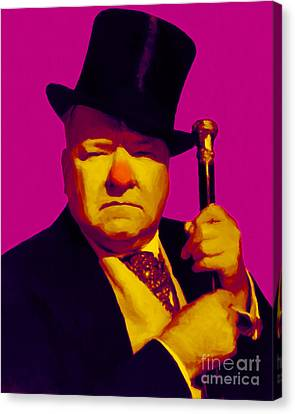 W C Fields 20130217 Canvas Print by Wingsdomain Art and Photography