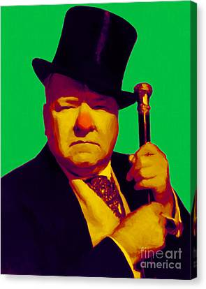 W C Fields 20130217p180 Canvas Print by Wingsdomain Art and Photography