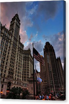 Wacker - Michigan Historic District Of Chicago 001 Canvas Print by Lance Vaughn