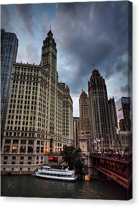Wacker - Michigan Historic District Of Chicago 002 Canvas Print by Lance Vaughn