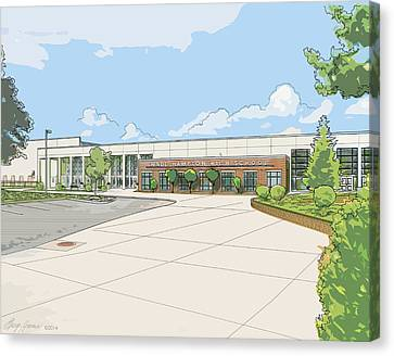 Wade Hampton High School Canvas Print by Greg Joens
