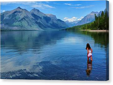 Wading In To A Dream Canvas Print by Jeff R Clow