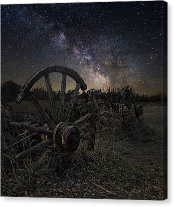 Wagon Decay Canvas Print by Aaron J Groen