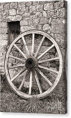 Wagon Wheel Canvas Print by Olivier Le Queinec