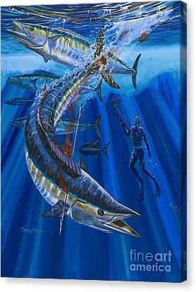 Wahoo Spear Canvas Print by Carey Chen