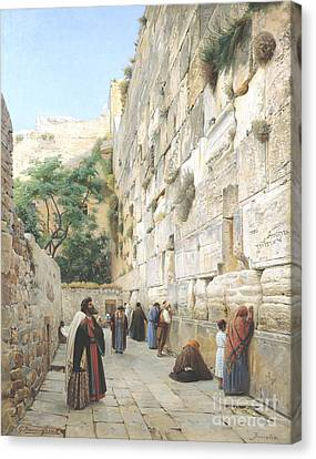 Wailing Wall - Jerusalem Canvas Print by Pg Reproductions