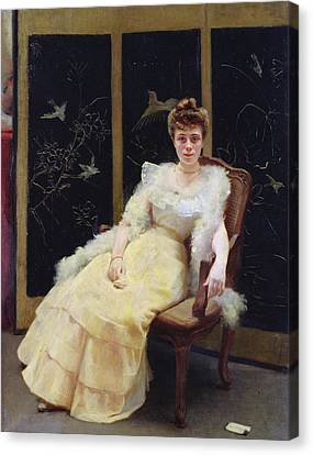 Waiting, 1901 Oil On Canvas Canvas Print by Ernst Philippe Zacharie