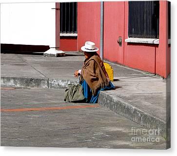 Waiting Canvas Print by Al Bourassa