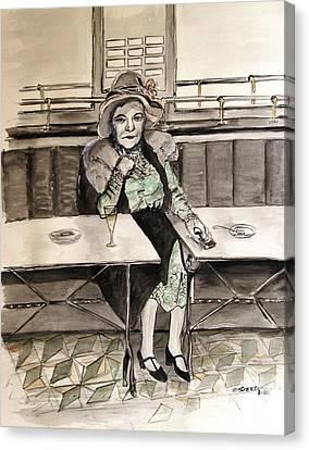 Waiting Canvas Print by Caroline Street