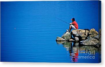 Waiting For A Bite Canvas Print by Mark Miller