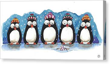 Waiting For Dinner Canvas Print by Lucia Stewart
