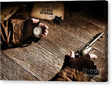 Waiting For High Noon Canvas Print by Olivier Le Queinec