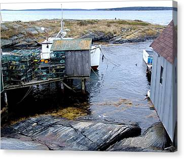 Waiting For Lobsters Canvas Print by Janet Ashworth