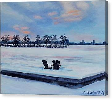 Waiting For Spring Canvas Print by Sue Birkenshaw