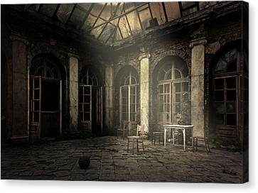 Waiting For The Guests Canvas Print by Jaroslaw Blaminsky
