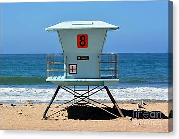 Waiting For The Lifeguard Canvas Print by Susan Wiedmann