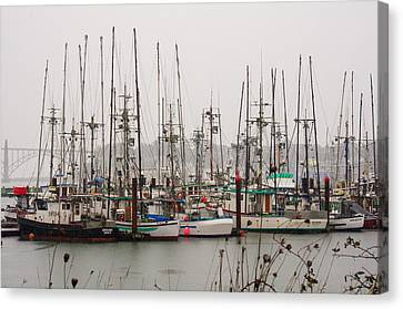 Waiting For The Storm To Pass Canvas Print by Harold Greer