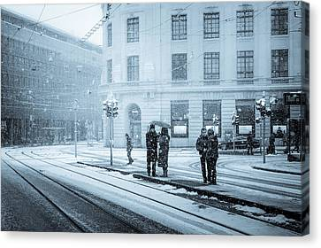 Waiting In The Snowstorm Canvas Print by Yuri Fineart