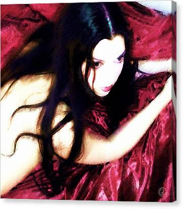 Waiting On Red Silk Canvas Print by Gun Legler
