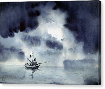 Waiting Out The Squall Canvas Print by Sam Sidders