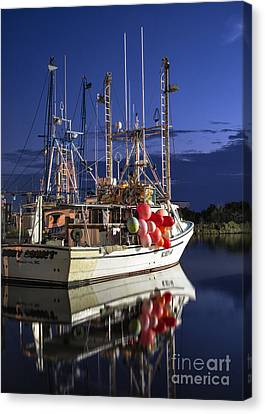 Waiting To Fish Canvas Print by Terry Rowe