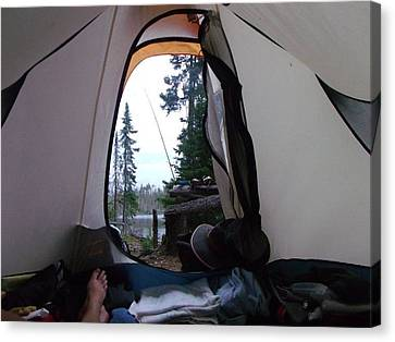 Wake Up Call Quetico 2010 Canvas Print by Amy Manley