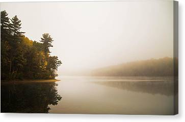 Walden Pond October Morning Canvas Print by Patrick Campagnone