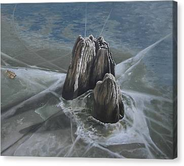 Walden Pond Winter Canvas Print by Jason Sawtelle
