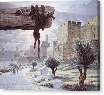 Walk In The Light  Jerusalem Canvas Print by Graham Braddock