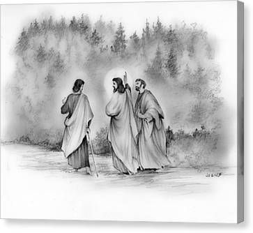 Walk To Emmaus Canvas Print by Greg Joens