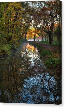 Walk To The Pond Canvas Print by Michael Blanchette